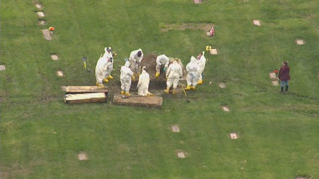 Officials dig up Canton Township graves as part of Detroit missing…