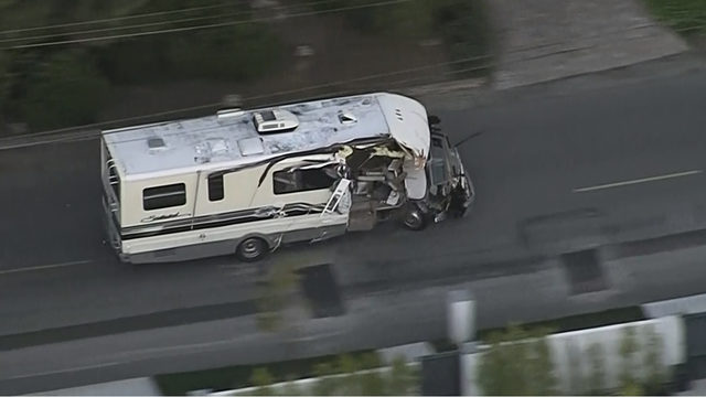VIDEO: RV driver leads California police on pursuit that ends in violent crash