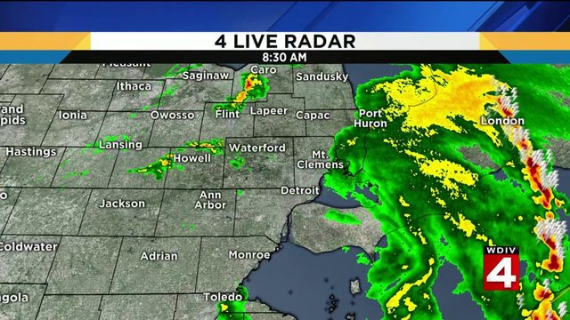 Metro Detroit weather: Drying out, warming up after morning storms