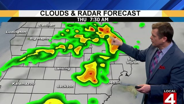 Metro Detroit weather: Rain and thunder move through this morning