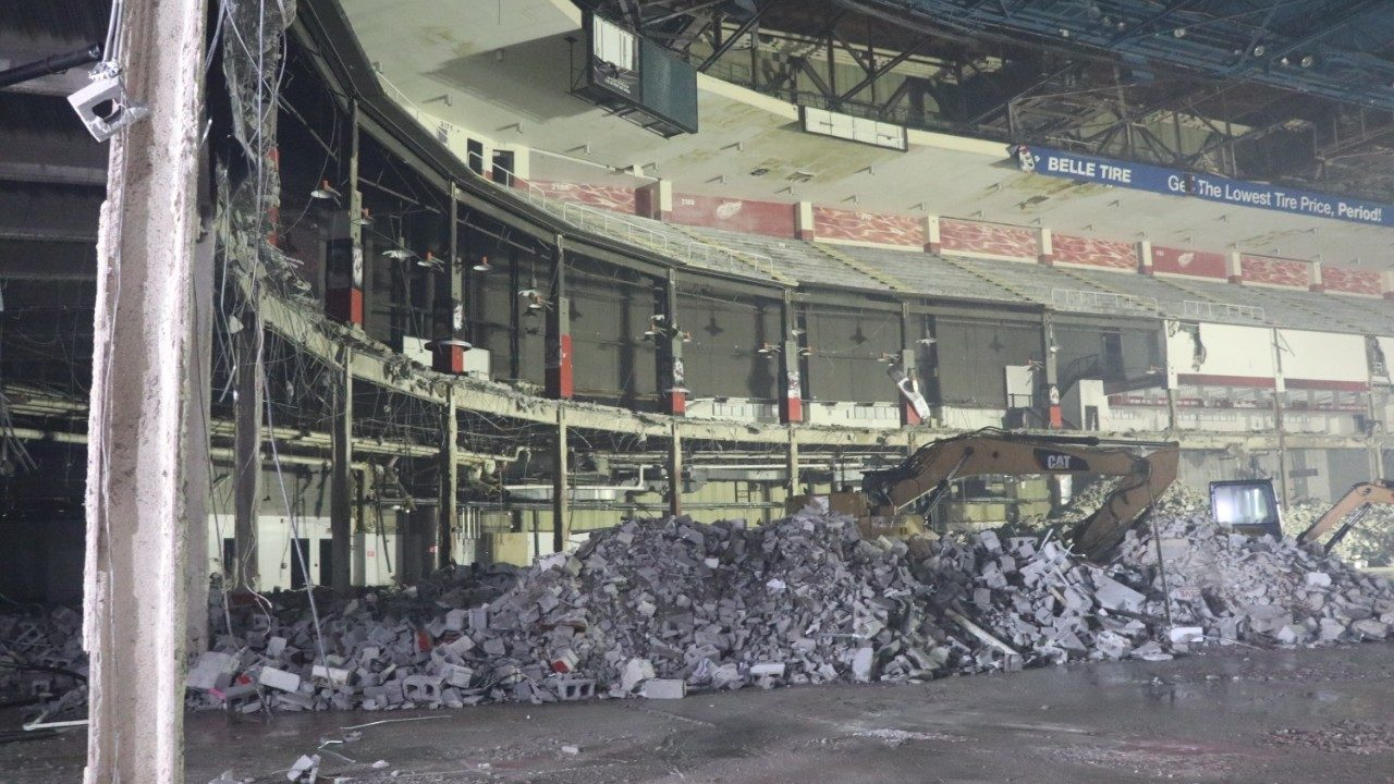 PHOTOS: A look inside Joe Louis Arena as crews demolish former Detroit Red Wings' home