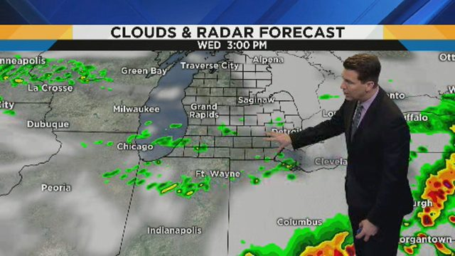 Metro Detroit weather: Strong thunderstorm possible; more rain chances this week
