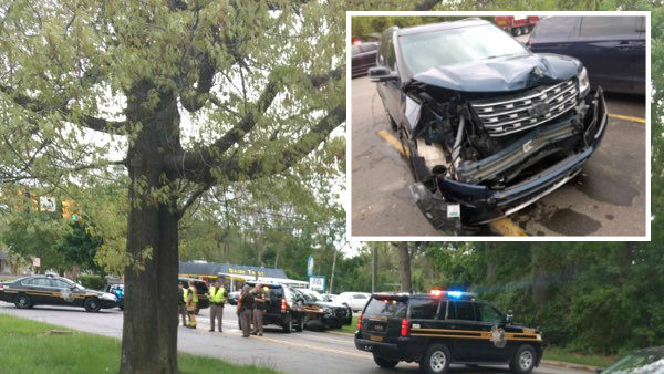 Oakland County sheriff's deputy involved in crash in Commerce Township