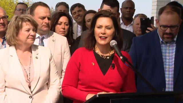 LIVE: Whitmer to sign bipartisan auto insurance bill on Mackinac Island