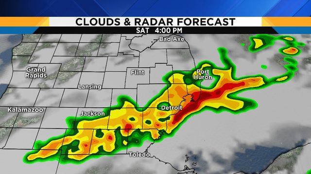 Metro Detroit weather: Chance of torrential downpours, lightning during…