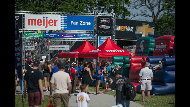 There is all kinds of family fun in the Meijer Fan Zone at the Chevrolet…