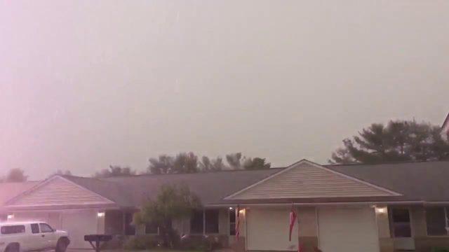 WATCH: Lightning strikes home in Milan, Michigan