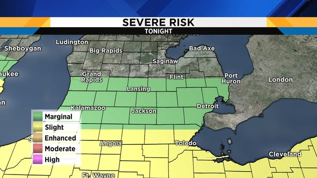 Ben Bailey: Another chance for severe storms tonight in Metro Detroit