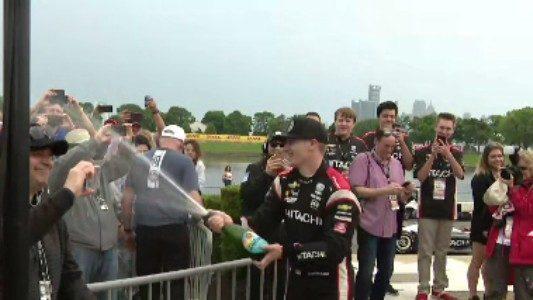 Newgarden wins 1st of 2 Detroit Grand Prix races