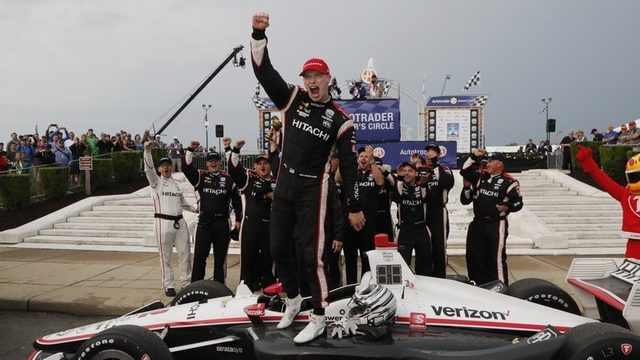 Josef Newgarden wins pole at Detroit Grand Prix, sets up sweep
