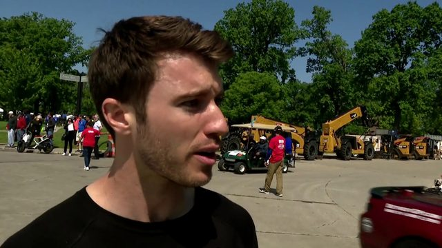 Local driver Jordan Dick competes in Trans Am race on Belle Isle