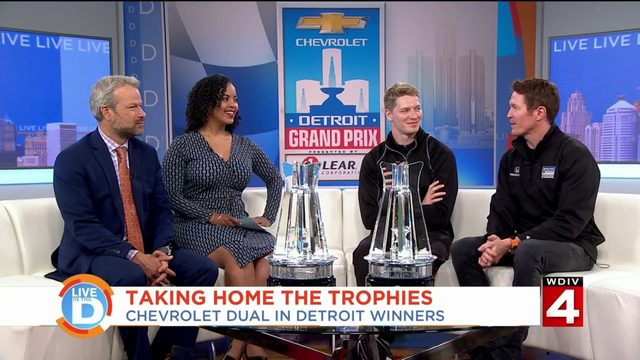 Winners of the Chevrolet Dual in Detroit said this about their victories