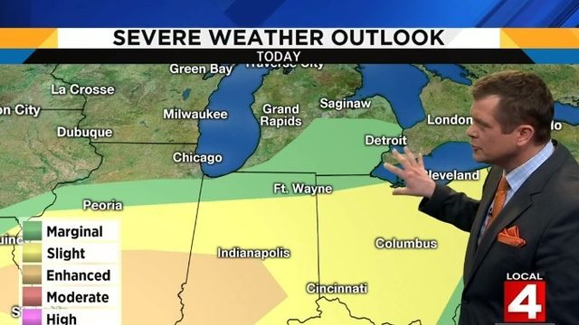Metro Detroit weather: Another chance for severe storms later today