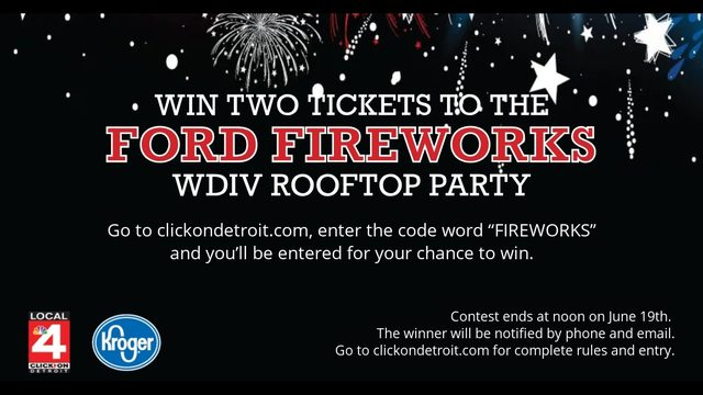 Win 2(Two) Tickets to The Ford Fireworks Brought to You By Kroger
