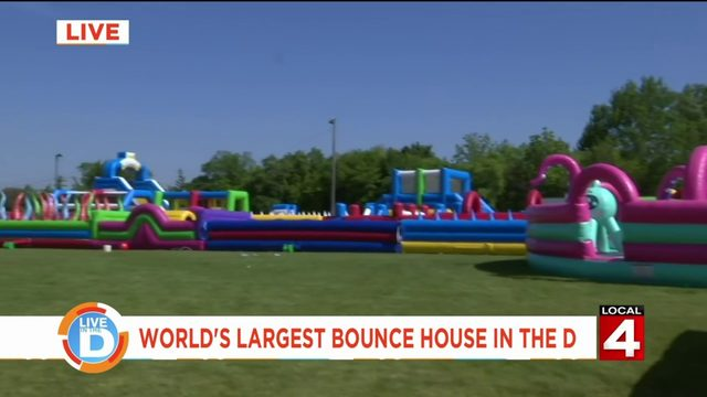 Get your bounce on at the world's largest bounce house in Fraser this weekend