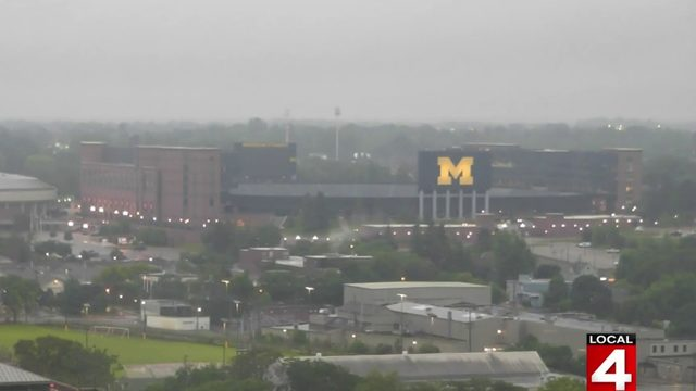 Just a nice shot of Michigan Stadium on a rainy June morning