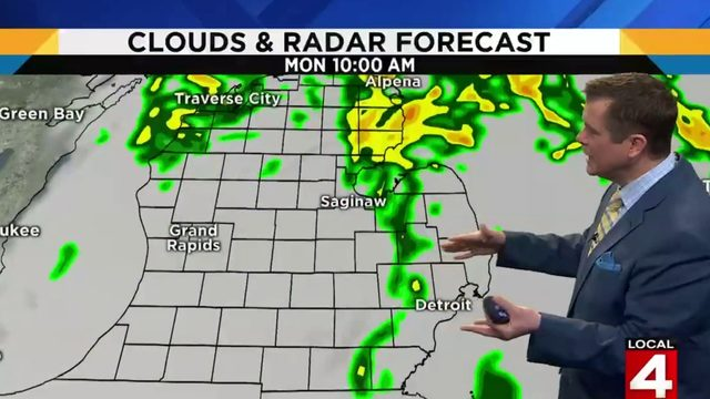 Metro Detroit weather: Rainy start, windy afternoon expected