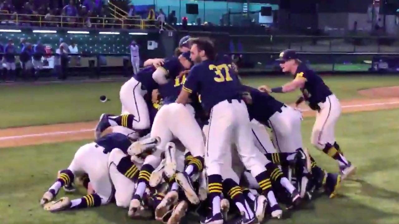 Michigan baseball defeats No  1 UCLA to advance to College