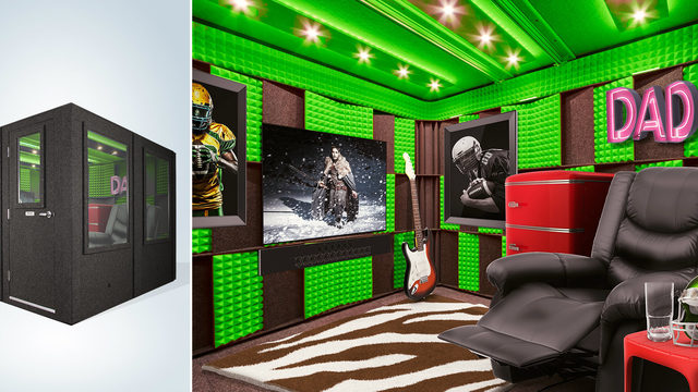Get your dad this $60,000 fully furnished soundproof man cave for Father's Day