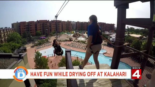 You don't have to get wet to have fun at Kalahari!