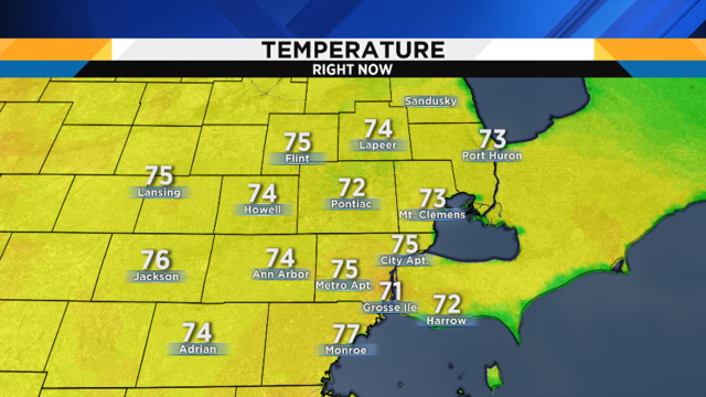 Metro Detroit weather: Another nice day before showers, thunderstorms return
