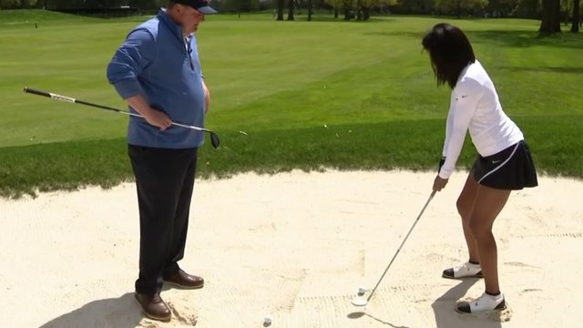 Golf tip: How to work on distance out of a fairway bunker