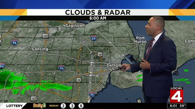 Metro Detroit weather: Cloudy with rain on Father's Day