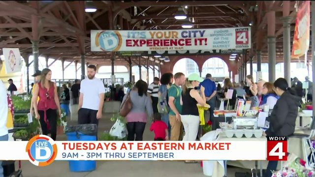 Tuesday's at Eastern Market is a great way to shop without big crowd