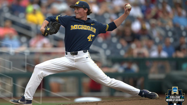 Michigan baseball one win away from championship series after shutting…