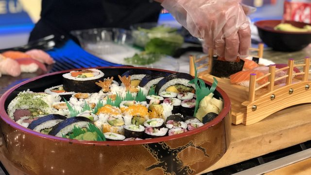 Do you eat sushi like they do in Japan?