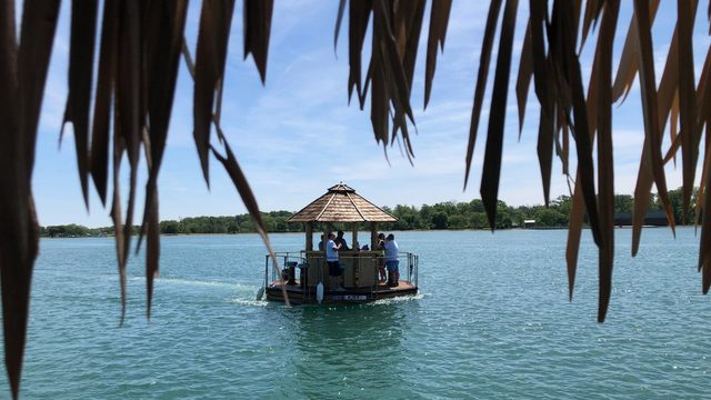 Explore the Detroit River, Lake St. Clair on a tiki boat. Yes, it's a thing.