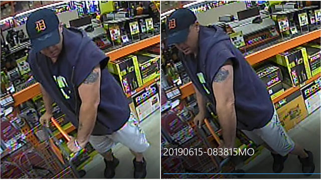Utica police hope to identify man accused of stealing tools from Home Depot