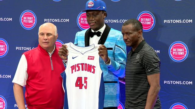 No. 15 draft pick Sekou Doumbouya is welcomed to Detroit