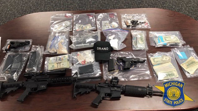 Rifles, drugs and more than $72K seized in Wayne County drug bust
