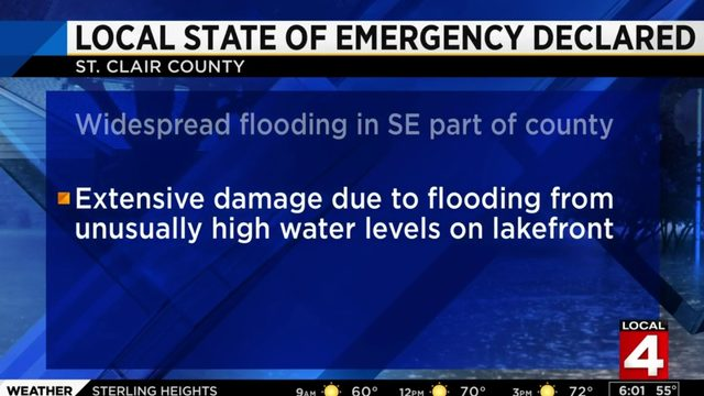 State of emergency declared in St. Clair County
