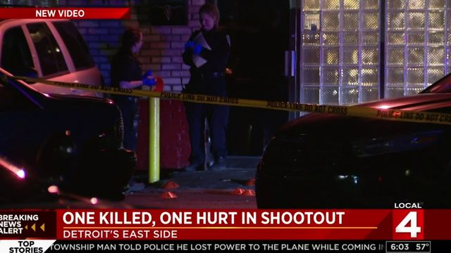 1 killed, 1 wounded in shootout on Detroit's east side