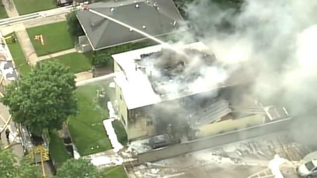 Crews battle house fire in Clawson