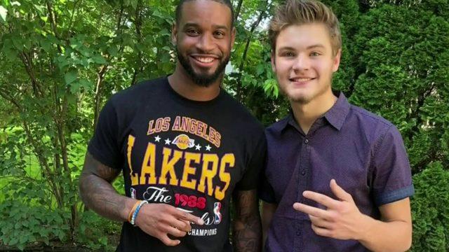 Detroit Lions player Darius Slaysurprises fan at graduation party