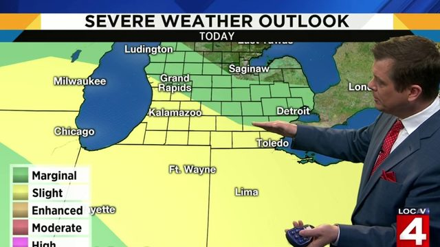 Metro Detroit weather: Risk for severe weather today