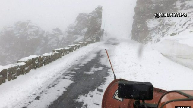 Heavy snow storms are hitting the state of Colorado