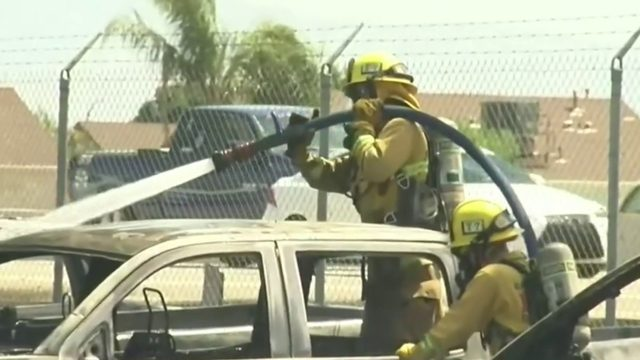 85 cars burn at California Carmax lot