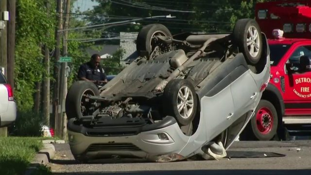 Four children taken to hospital after distracted driver causes rollover…
