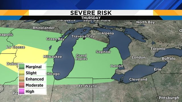 Metro Detroit weather: Risk for severe storms to end week