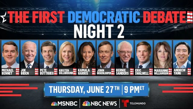 WATCH LIVE: Night 2 of the 2020 Democratic debates