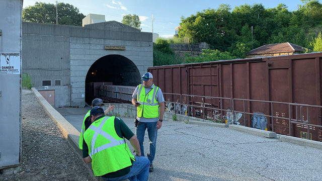Train derails inside St. Clair River international tunnel in Port Huron