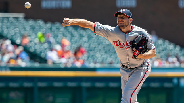 Scherzer strikes out 14 as Nationals top Tigers, 2-1