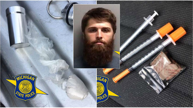 Michigan driver pulled over, in possession of heroin, fentanyl, state police say