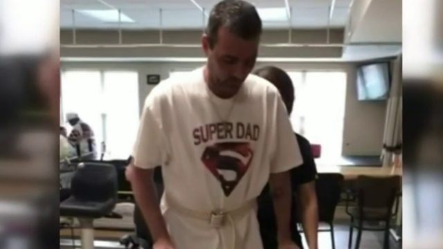 Metro Detroit man takes first steps after construction zone accident…