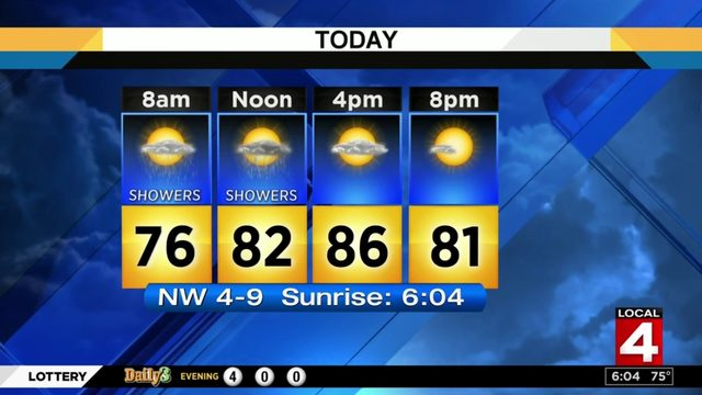 Metro Detroit weather forecast: Less hot Saturday with chance of rain showers