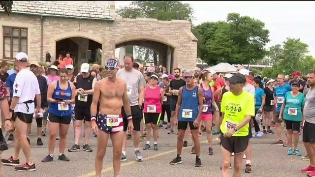 Participants run in Detroit cemetery to raise money for  Make-A-Wish Foundation